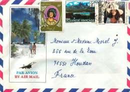 1983 Lettre Avion Pour La France   Roi Pomaré 1er PA106, Paysage Uapou 133, Chapeau 199 - Briefe U. Dokumente