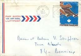 1977  Lettre Avion Pour La France    Jeux Olympiques De Montréal PA111 - Polynésie Française