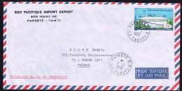 1973  Lettre Avion Pour La France    Siège De La Commission Du Pacifique Sud PA62 - Polynésie Française