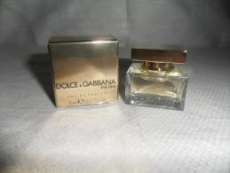 ECHANT / THE ONE  DE DOLCE & GABBANA    / Edepf   5ml /  PLEIN - Miniaturen Flesjes Dame (met Doos)