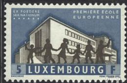 Luxemburg 621 (kompl.Ausg.) Postfrisch 1960 Europäische Schule - Luxemburg