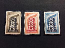 Luxembourg-Lussemburgo-1956-Europa Unita(CEPT)-Serie Cpl. 3 Val. NUOVI MNH** - Europa-CEPT