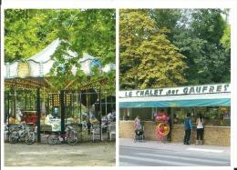 Paris XII Près Du Lac De Saint Mandé , Bois De Vincennes, Manège Des Chevaux De Bois Ancien Et Chalet Des Gaufres, Cpm - Parks, Gärten