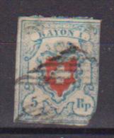 SVIZZERA 1850 POSTE FEDERALI UNIF. 14 USATO (VEDI FOTO) - 1843-1852 Timbres Cantonaux Et  Fédéraux