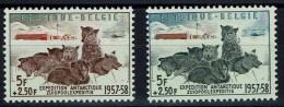 Belgien 1957 - Antartica Zuidpool - Hunde Dogs - MiNr 1072+1073 ** / OBP 1030+1031** - Belgien