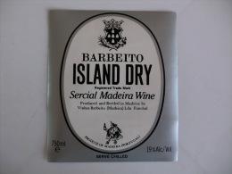 Label Etiquette Rotulo Wine Vin Vinho Barbeito Island Dry Madeira  Portuguese Portugal - Labels