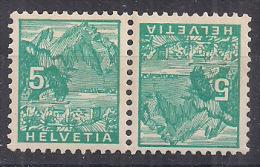 SVIZZERA 1934 VEDUTE TETE-BECHE UNIF. K 28 MNH XF FRANCOBOLLI  272+272 - Tete Beche