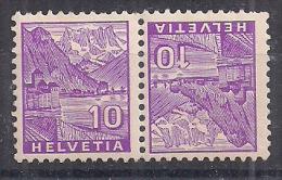 SVIZZERA 1934 VEDUTE TETE-BECHE UNIF. K 29 MNH XF FRANCOBOLLI 273+273 - Tete Beche