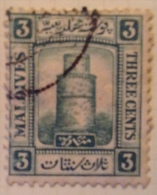 Maldives Used (o) - 1909 - Sc # 8, 9 - Malediven (...-1965)