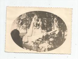 Cp , Carte Photo , Religion , LA VIERGE ET L´ENFANT , Vierge , Pas D´éditeur - Jungfräuliche Marie Und Madona