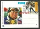 Estland Estonia 2003 Ganzsache Postal Stationery Kristina Šmigun Weltmeister Val Di Fiemme - Skiing