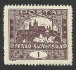 Czechoslovakia, 1 H. 1919, Sc # 41, Mi # 18, MH - Czechoslovakia