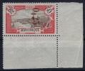 Martinique  Yv Nr 109, 25c Sur 50c Rouge:  MNH/** NEUF** Coin De Feuille Signed/ Signé - Martinique (1886-1947)
