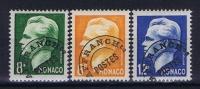 MONACO:  Mi Nr 420V + 421V + 423V AFFRANCH Ts  Avec  Charnière  1950 - Monaco