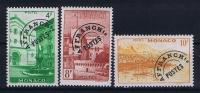 MONACO:  Mi Nr 384V + 386V + 387V AFFRANCH Ts  Avec  Charnière  1948 - Monaco