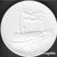 Deutschland Geschichte Der Eisenbahn - Adler 1835 Vorzüglich Vorzüglich Porzellanmedaille Meissen - Germania
