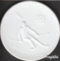 Deutschland Geschichte Des Sports - Ski-Slalom Vorzüglich Vorzüglich Porzellanmedaille Meissen - Germania