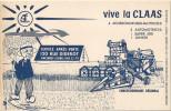 BUVARD VIVE LA CLAAS MOISSONEUSE BATTEUSE VINCENNES - Agriculture