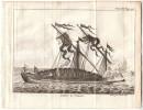 1741 - Gravure Sur Cuivre Originale - Galère à L'ancre - FRANCO DE PORT - Boats
