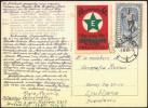 Esperanto Czechoslovakia 1960 Cinderella On Postcard Prague Travelled Bb150918 - Esperanto