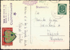 Esperanto Germany 1953 Cinderella On Postcard Travelled Bb150918 - Esperanto