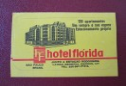 HOTEL MOTEL POUSADA INN FLORIDA SAO PABLO BRAZIL BRASIL MINI LUGGAGE LABEL ETIQUETTE KOFFER AUFKLEBER DECAL STICKER - Hotel Labels