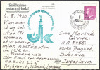 Esperanto Sweden 1980 65th Congress Special Postmark On Postcard Stocholm Travelled Bb150918 - Esperanto