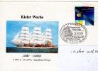 VOILIER MIR KIELER WOCHE Obl Temporaire Kiel1 22/06/91 - Postmark Collection (Covers)
