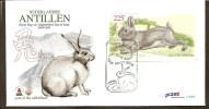 Antillen / Antilles 1999 FDC 302a Chinese Year Of The Rabbit S/S - Curacao, Netherlands Antilles, Aruba
