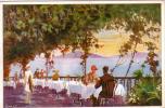 DESENZANO BRESCIA LAGO DI GARDA HOTEL DUE COLOMBE ILLUSTRATORE TOMMASI?ANNO 1925/35 - Brescia
