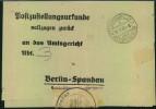 BRANDENBURG ; SCHÖNWALDE 2 VELTEN (b. BERLIN) 1946; Postzustellungsurkunde - Allemagne