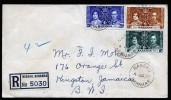 A3349) UK Bahamas Registered Cover From Nassau 04.06.1937 To Jamaica - Bahamas (...-1973)