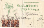 """Facture 1926, Bordeaux """"objets Artistiques, Fleurs Naturelles""""  (20.64) - 1900 – 1949"""