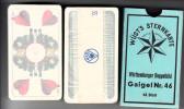 Spielkarten OVP, Wüst's Sternkarte, Gaigel Nr. 46, 48 Blatt, Ver. Altenburger Und Stralsunder Spielkarten Topp, Ca. 1930 - Alte Papiere