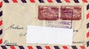 Enveloppe 1958,  Vénézuéla, 2 Timbres Hôtel Tamanaco-caracas (cl.bleu) - Venezuela