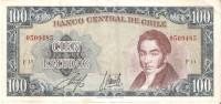 BILLETE DE CHILE DE 100 ESCUDOS  (BANKNOTE) - Chile