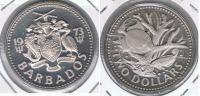 BARBADOS 2 DOLLARS 1973 PLATA SILVER X - Barbados