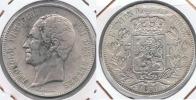 BELGICA BELGIQUE 5  FRANCS 1850 PLATA SILVER Y2 BONITA - 11. 5 Francos