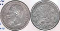 BELGICA BELGIQUE 5  FRANCS 1876 PLATA SILVER Y - 1865-1909: Leopoldo II