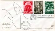 VATICANE, FDC-Brief Weltflüchtlingsjahr 1959-60, 3 Fach Frankierung, 2 Sonderstempel - FDC