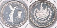 EL SALVADOR 5 COLONES 1971 PLATA SILVER X - El Salvador