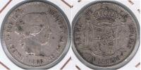 ESPAÑA ISABEL II  ESCUDO 1866 MADRID PLATA SILVER X2 - Monedas Provinciales