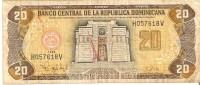 BILLETE DE REP. DOMINICANA DE 20 PESOS ORO DEL AÑO 1998 SERIE H (BANKNOTE) - República Dominicana