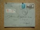 Enveloppe Affranchie Type Semeuse Oblitération Foix Ariège Pour Auzat Recommandé - Marcophilie (Lettres)