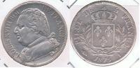 FRANCIA  FRANCE 5 FRANCS LOUIS XVIII 1815 I PLATA SILVER X - J. 5 Francos