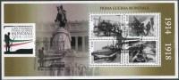 2015 Italia, Centenario Prima Guerra Mondiale , Foglietto Con Annulli Ufficiali - 6. 1946-.. Republic