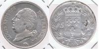 FRANCIA  FRANCE 5 FRANCS LOUIS XVIII 1823 Q PLATA SILVER X - J. 5 Francos