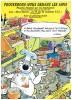 Calendrier Féd. Des Scouts Catholiques 1986, Illustr. Ernst, Geerts, Walthéry, Dupa, Bedu, Dany, Tibet, Peyo - 14 Scans - Sin Clasificación