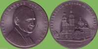 MEDAGLIA  1990 PAPA GIOVANNI PAOLO II A FULDA - Germania