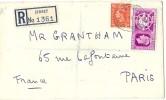 LBL32 - JERSEY LETTRE RECOMMANDÉE D'OCTOBRE 1949 - Jersey